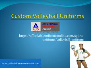 Custom Volleyball Uniforms