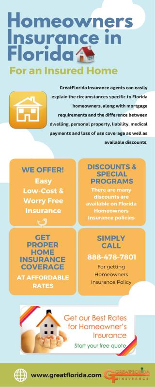 Infographic about Homeowners Insurance Florida