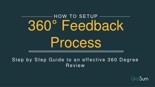 How to Setup 360 Degree Feedback Process