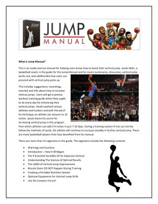 Kick-start your jump trainings with jumping manual
