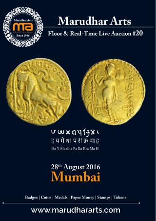 MarudharArts E-Auction # 20 (Mumbai) Live now.