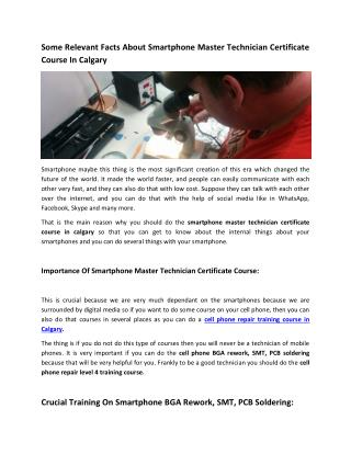Cell Phone Repair Level 4 Training Course