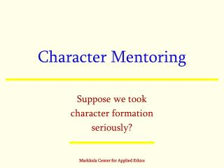 Character Mentoring