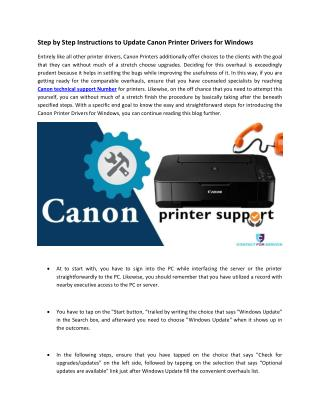 Step by Step Instructions to Update Canon Printer Drivers for Windows