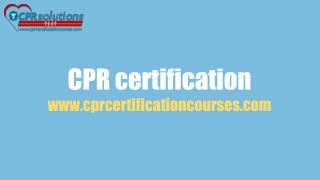 CPR Courses | Online First Aid Certification