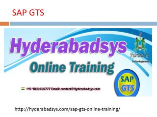 The Best SAP GTS Online Training in USA, UK, Canada.