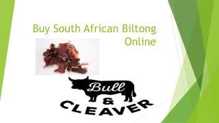 Buy South African Biltong Online