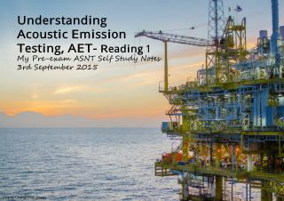 Understanding Acoustic Emission Testing- Reading 2015-1A