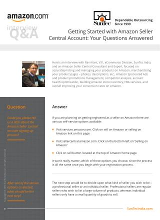 Getting Started with Amazon Seller Central Account Your Questions Answered
