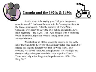 Canada and the 1920s  1930s