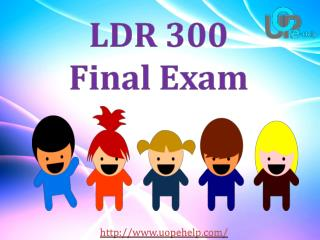 LDR 300 Final Exam Questions and Answers - UOP E Help