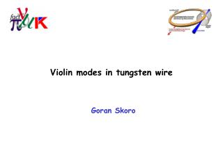 Violin modes in tungsten wire