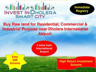 Raw land for sale in Dholera