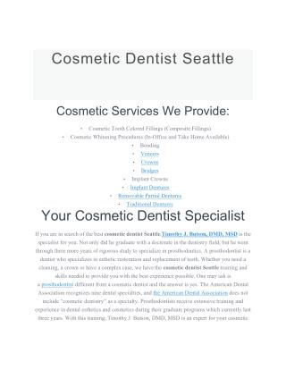 Cosmetic Dentist Seattle