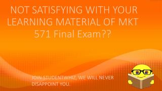 MKT 571 Final Exam - MKT 571 final exam 2015 Question: MKT 571 Final Exam Answers UOP - Studentwhiz