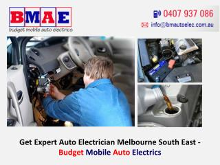 Get Expert Auto Electrician Melbourne South East - Budget Mobile Auto Electrics