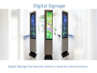 Digital Signage – One of the Latest Trending Technology