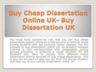 Buy Cheap Dissertation Online UK- Buy Dissertation UK