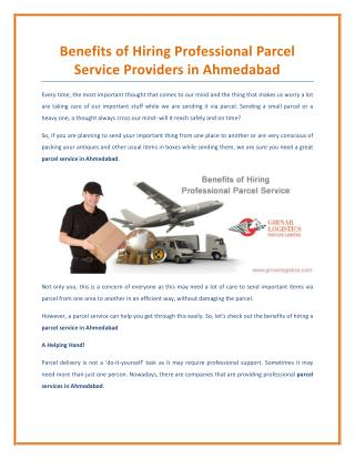 Benefits of Hiring Professional Parcel Service Providers