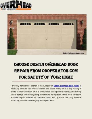 Garage Door Service Ft Walton