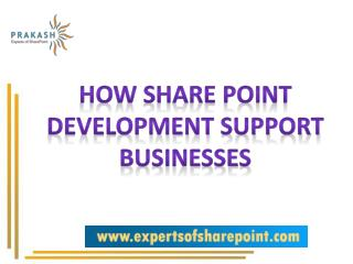 Benefits of SharePoint Development for Business