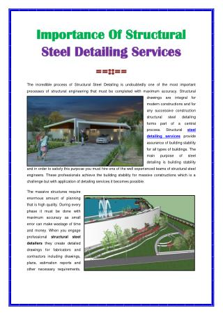 Steel Detailing Services
