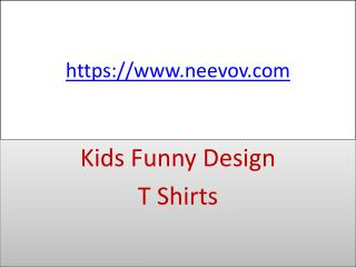 Black Colour Kids Funny Design T Shirts