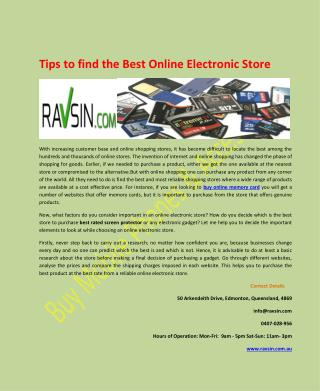 Tips to find the Best Online Electronic Store