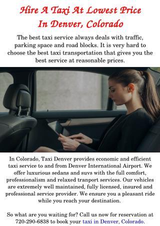 Taxi in Denver, Colorado