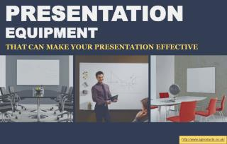 Three things that improve presentation efficiency