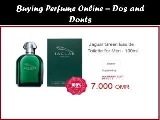 Buying Perfume Online – Dos and Donts
