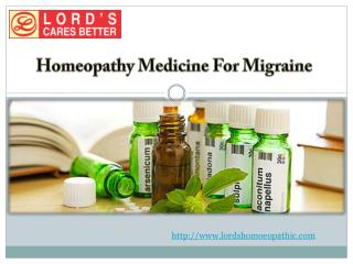 Homeopathy Medicine For Migraine