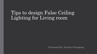 False ceiling lighting fixtures