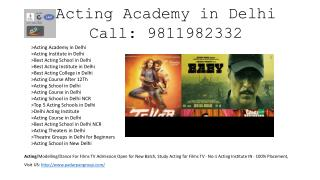 Drama Schools Near Me, Film Acting Workshop, Modeling School in India,  Acting Classes in South Delhi, Film Institute De