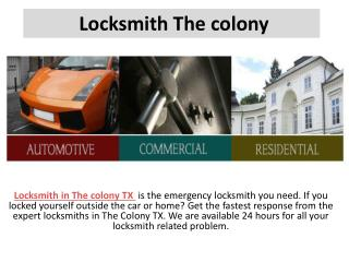 The colony locksmith