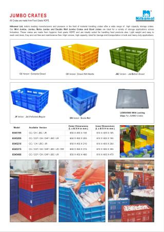 Dimension Wise Crates - Jumbo giant