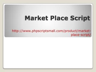 Market Place Script-PHP Scripts Mall