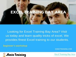 Get Sonic Certified with Excel Training Bay Area