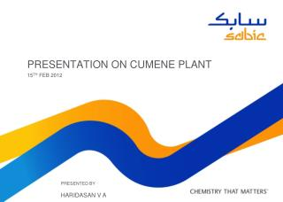 PRESENTATION ON CUMENE PLANT