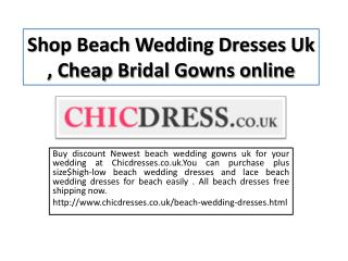 uk beach wedding dresses