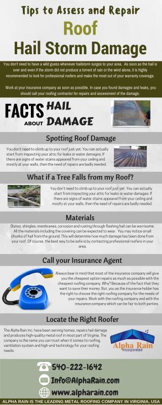 Ways to Assess and Repair Roof Hail Damage