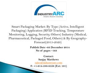 Smart Packaging Market: industrial packaging of products to propel the demand during 2015-2020.