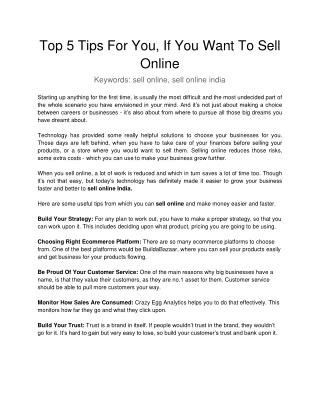 Top 5 Issues With Online Selling