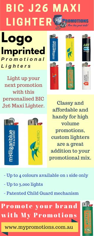 Personalised BIC J26 Maxi Lighter at My Promotions