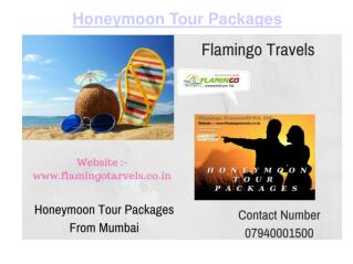 Honeymoon Tour Package - Trip To An Amazingly Blessed Country
