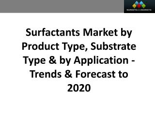 Surfactants Market worth $42,120.4 Million by 2020