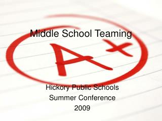 Middle School Teaming