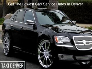 Cab Service in Denver