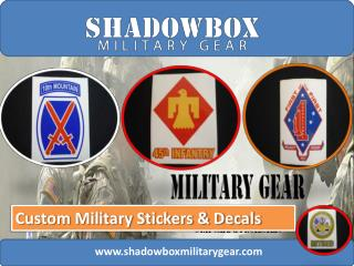 Custom Military Stickers and Decals the Right Way