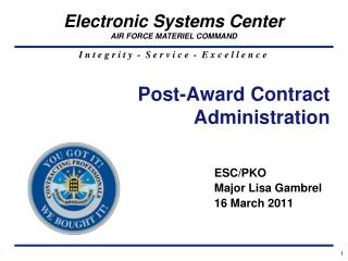 Post-Award Contract Administration